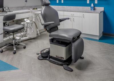 Dentist chair, Interior of Nebraska kids dentist office | Skyline Pediatric Dentistry | Omaha children's dentist in Elkhorn, NE